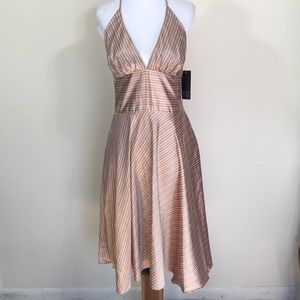 🆕Alyn Paige Satin Striped Halter Dress- Sz 7/8
